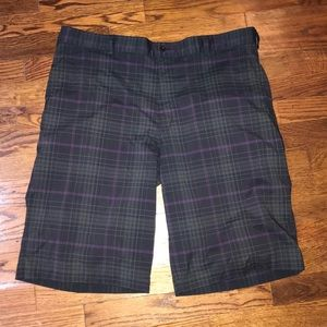 Plaid Nike Men's Golf Shorts SZ 38